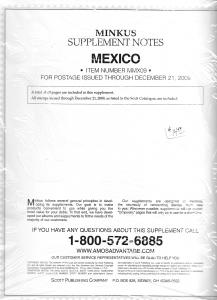 Minkus Mexico MMX09 Supplement 2009