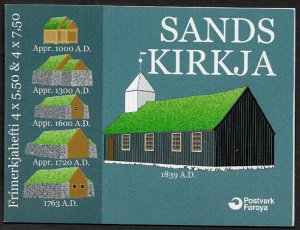 Faroe Is #479a MNH Complete Booklet - Sandur Church