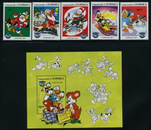 Dominica 869-74 MNH Disney, Christmas, Donald Duck
