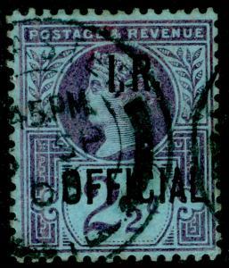 SGO14, 2½d purple/blue, FINE USED, CDS. Cat £30.