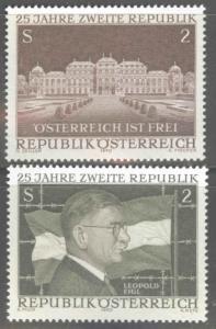 Austria Scott 860-861 MNH** 1970 2nd Republic set