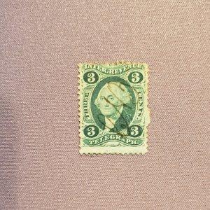 R19c, 3c telegraph, Used, CV $5.00