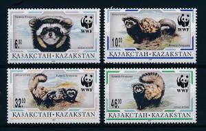 Kazakhstan MNH 171-4 Marbled Polecat Wildlife WWF 1997