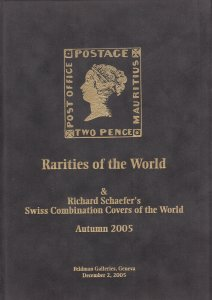 Swiss Combination Covers plus Rarities of the World, 2005 Feldman Catalog