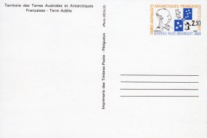 French Southern Antarctic Territory 1989 POST CARD Amiral Max Douget-Penguins