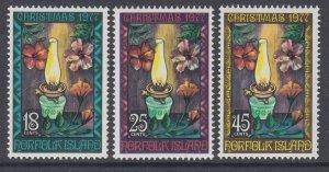 Norfolk Island 219-221 Christmas MNH VF
