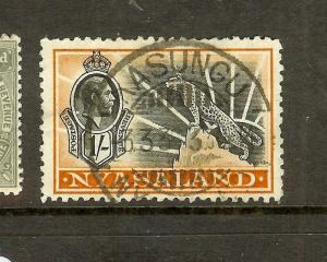 NYASALAND (P2306B) KGV 1/- LEOPARD SG122 SON CDS  VFU  VILLAGE