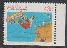 Australia SG 1181a  FU -    from booklet imperf  bottom r...