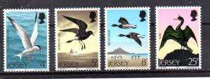 Jersey MNH 129-32 Birds