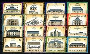 Norfolk Island #156-71 MNH CV $9.75 (X1445)