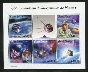 GUINEA BISSAU 2019  60th ANNIVER OF THE LAUNCH OF LUNA I  SHEET MINT NH
