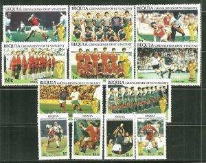 St. Vincent Bequia MNH 218-9 World Cup Soccer 1986