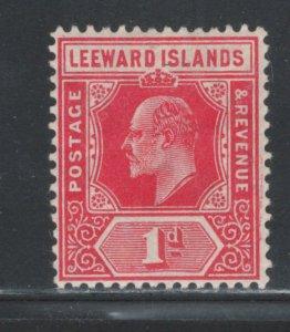 Leeward Islands 1907 King Edward VII 1p Scott # 43 MH