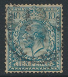 GB SG 428  SC# 199  Used spacefiller   Turquoise Blue  see detail / scans    ...