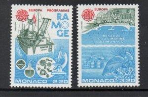 Monaco Sc 1530-1531 1986  Europa stamp set mint  NH