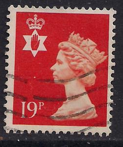 Northern Ireland GB 1988 QE2 19p Orange Red Machin SG NI 49 ( D137 )