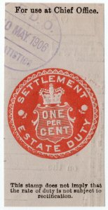 (I.B) Edward VII Revenue : Estate Duty 1% (Settlement)