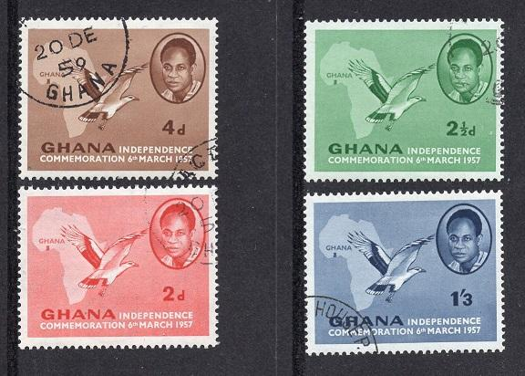 Ghana   #1-4  1957  cancelled   independence  complete