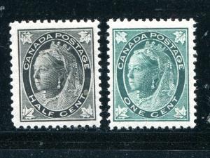 Canada #66, 67  Mint VF NH