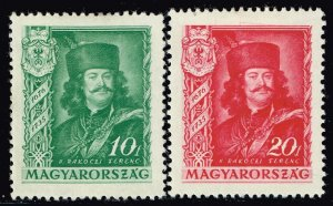 HUNGARY STAMP 1935 The 200th Anniversary of the Death of Prince MH/OG 10F, 20F
