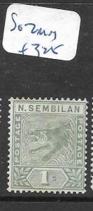 MALAYA  NEGRI SEMBILAN   (P1307B)   TIGER 1C      SG 2     MOG