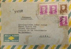 A) 1960, BRAZIL, SHIPPED TO HAVANA – CARIBBEAN, AERIAL