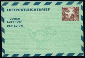 Germany-Berlin Mi LF5 Aerogramme; Unused (MCV 45 Euro)