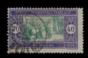 SÉNÉGAL - 1924 - CAD DOUBLE CERCLE ZIGUINCHOR/SÉNÉGAL SUR N°63