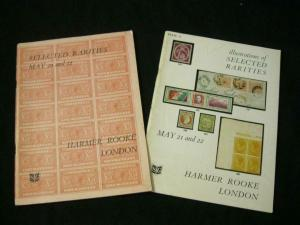 HARMER ROOKE AUCTION CATALOGUES 1964 SELECTED RARITIES + ILLUSTRATIONS