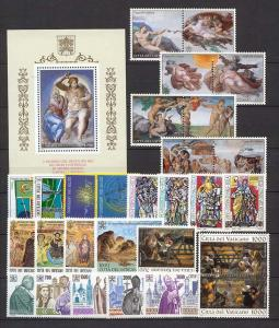 1994 Vatican City - Sc# 942-970 - Complete year set - MNH
