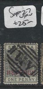 ST LUCIA  (P2705BB)  QV   POSTAL FISCAL  SG F27   VFU
