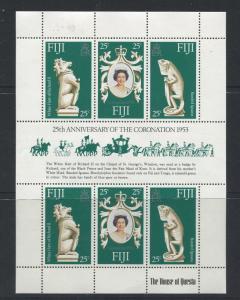 Fiji - Scott 384 - General Issue 1978- MNH - Souvenir Sheet of 6 Stamps