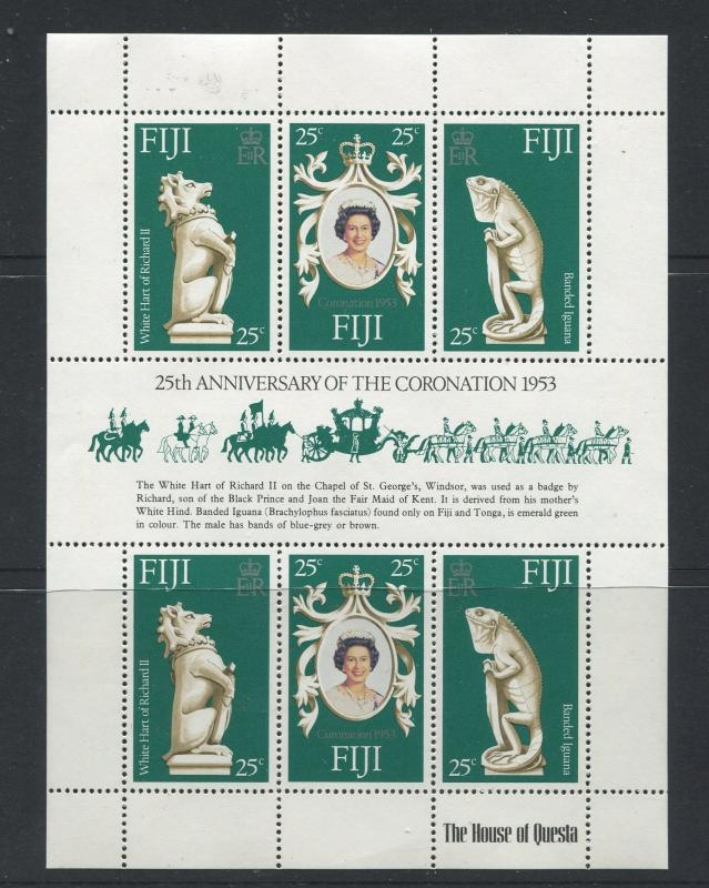 Fiji - Scott 384 - General Issue 1978- MNH - Souvenir Sheet of 6 Stamps