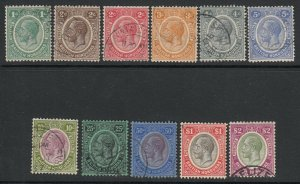 British Honduras, Sc 92-102 (SG 126-137), used