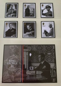 JE12) Jersey 2017 KGVI Royal Legacy Queen Victoria set of 6 & M/S MUH