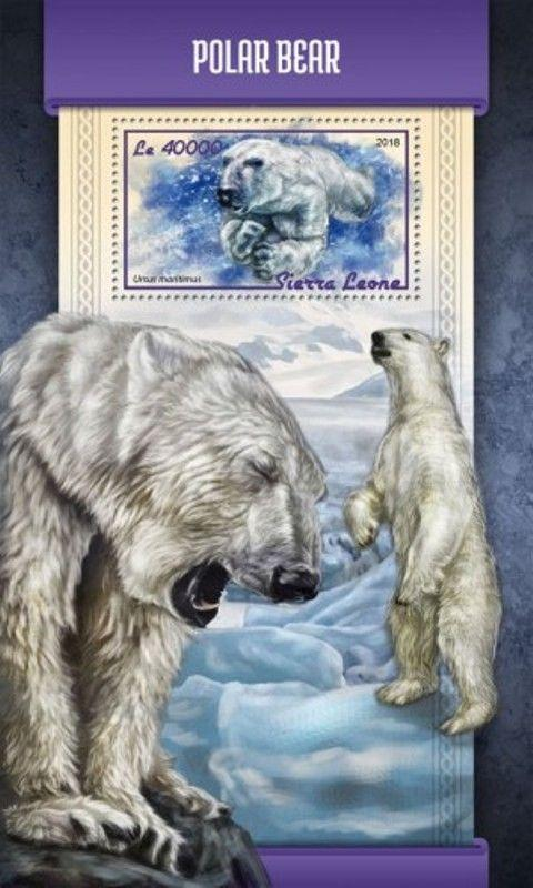Sierra Leone - 2018 Polar Bears on Stamps - Souvenir Sheet - SRL18112b