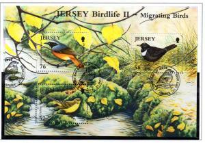 Jersey Sc 1348 2008 Migrating Birds stamp sheet used