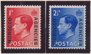 Great Britain, Offices In Morocco Stamps Scott #244 To 245, Mint Hinged - Fre...