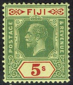FIJI 1922 KGV 5/- DIE II WMK MULTI SCRIPT CA