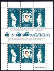 British Antarctic Territory Sc# 71 MNH Sheet/6 1978 Elizabeth II Coronation 25th