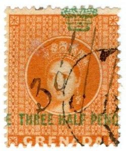 (I.B) Grenada Revenue : Duty Stamp 1½d