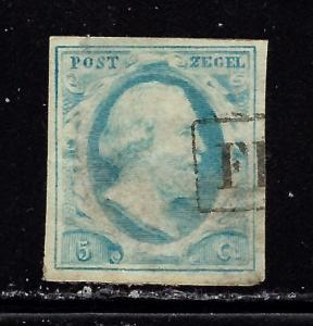 Netherlands #1 Used 1852 issu with thin area