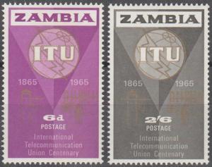 Zambia #18-9 MNH VF  MNH F-VF (SU1453)
