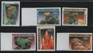 CONGO, UNLISTED, 2002, SET(6), IMPERF., MNH, MINERALS
