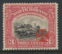 North Borneo  SG 191 SC# B3 MH OPT vermilion cross - See scan