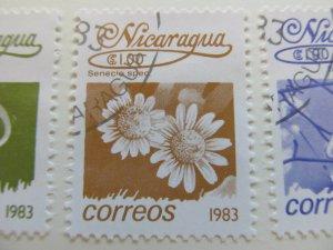 Nicaragua 1983 Flower 1cor fine used stamp A11P11F111
