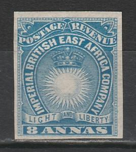 BRITISH EAST AFRICA 1890 LIGHT AND LIBERTY 8A IMPERF
