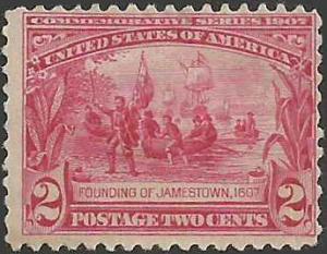 # 329 Mint FAULT Carmine Founding Of Jamestown