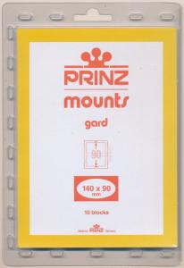 Prinz Scott Stamp Mounts Size 140/90 CLEAR Background Pack of 10