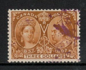 Canada #63 Very Fine Used With Magenta Cancel
